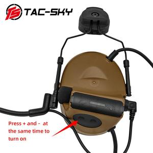Image 5 - TAC  SKY COMTAC II Tactical Headset COMTAC II Helmet Stand Military Noise Cancelling Headphones and Tactical PTT u94ptt   CB