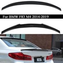 Carro de fibra de carbono asa traseira tronco tampa spoiler asa para bmw f83 m4 2014-2019