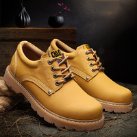 Handmade Genuine Leather Shoes Men Tooling Boots Work Shoes Classic Ankle Boots Fashion leather Men Winter Boots 1