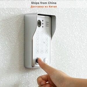 Image 5 - Беспроводной видеодомофон HomeFong для дома, IP видеодомофон с разблокировкой по отпечатку пальца, HD 10 дюймовый сенсорный экран, Wi Fi