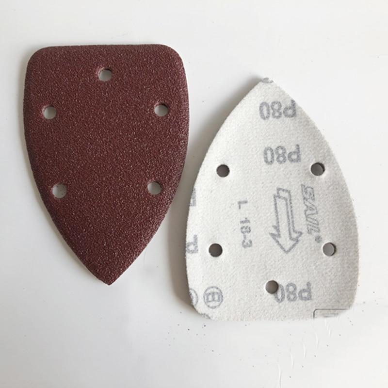 Triangle Backed Sandpaper 140 * 90 With Holes Aluminum Oxide Abrasive Sanding Paper  Sandpaper For Polishing Tools