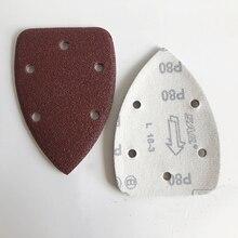 5inch 125mm Aluminum Oxide Abrasive Sanding Paper Velcro  free shipping sandpaper