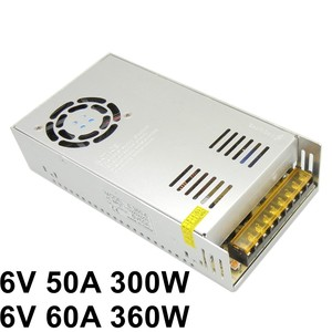 6V 50A 300W 60A 360W Regulated Switching Power Supply ac to dc voltage transformer AC 110V 220V input SMPS free shipping