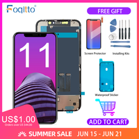 FOQITTO iPhone 11 Display With 3D Touch LCD Screen Digitizer Assembly Replacement For iPhone 11 Pro/ Pro Max