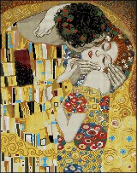 Egipto 100% algodón lindo conteo Kit de punto de cruz el beso G Klimt pintura abstracta Riolis 1170