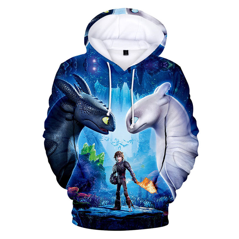 3 6 7 8 9 10 Years How To Train Your Dragon Hoodies For Kids Baby Boys Girls Long Sleeve Sweatshirts 3D Printed Cartoon Clothes image