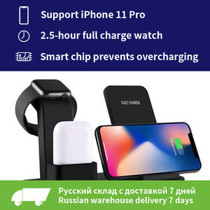 For apple watch charger 3 In 1 Charging Dock Station Bracket Cradle Stand phone holder For IPhone XR X 8 7 6 Wireless QI Dock