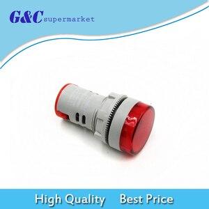 DIY 22 мм Цифровой вольтметр переменного тока 60-500 в красный измеритель напряжения датчик AD16-22DSV цифровой дисплей индикатор лампа diy Электроник. . .