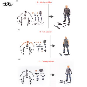 Image 1 - JOYTOY 1/18 action figure Unassembled, not colored model kit soldier figures DIY Collection toys Free shipping