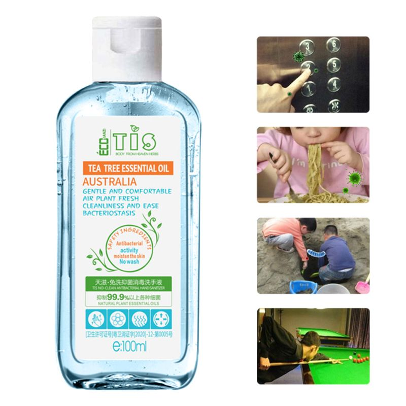 100ml Effective Antibacterial Instant Hand Sanitizer 75% Alcohol Gel Wash Free Quick-Drying Refreshing Disposable Sterilization