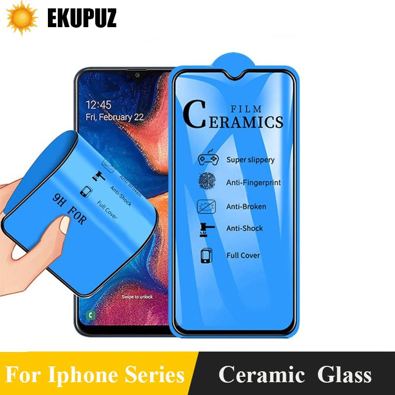 3D Diamond Ceramic Tempered Glass for Iphone 7 8 6 plus X XS XR XMAX 11 Pro 11 ProMax Glass Film for iphone 11 Screen Protector(China)