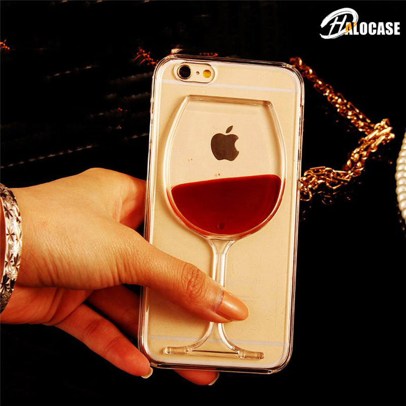 3D Quicksand Wine Glass Phone Case For Xiaomi Redmi Note 5 6 7 8 Pro 6A 7A Pocophone F1 Mi8 Mi A2 Lite 6X 5X Mi9 SE 9T K20 Pro(China)