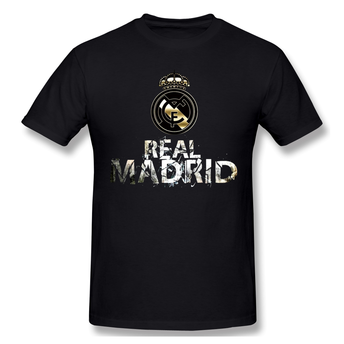 Cool Real Madrided Logo Funny T-Shirt Men Women Summer O Neck Casual Cotton T Shirt Graphic Tee Crew Neck Top