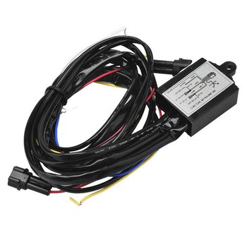 Wielofunkcyjny przekaźnik ze światłem LED do jazdy dziennej sterowanie wiązką przewodów DRL On Off ściemniacz światła do jazdy dziennej samochodu tanie i dobre opinie MOTOWOLF CN (pochodzenie) plastic metal 7*4 7*2 2 cm 1 5 m DC 12V 2 5A MAX