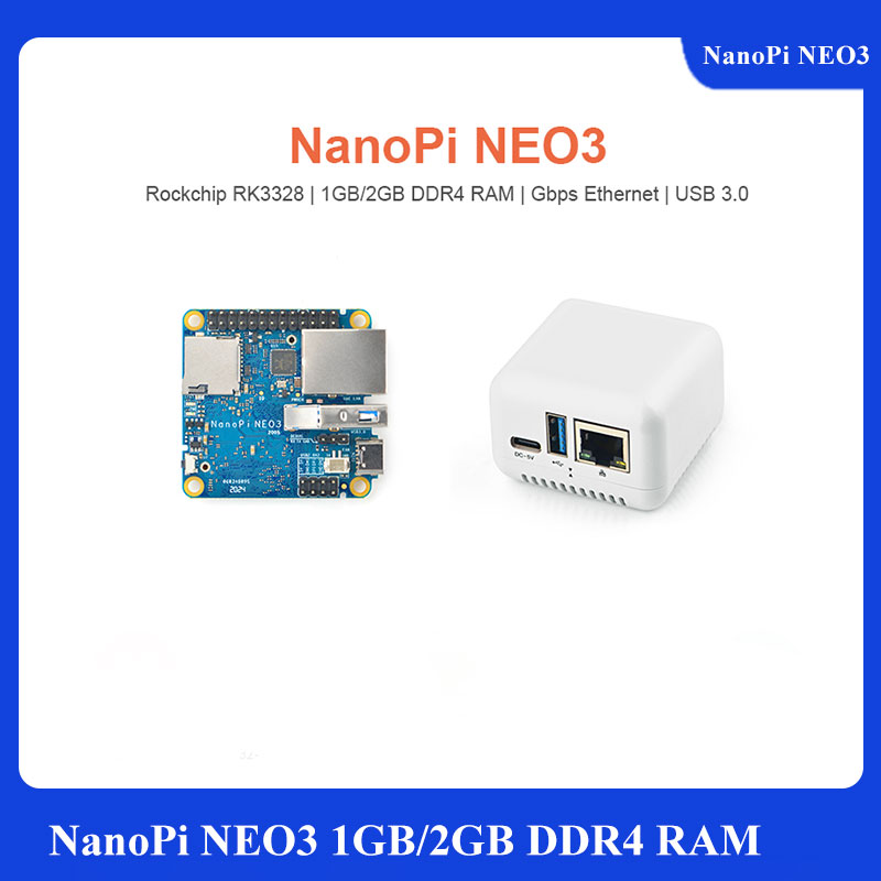 NanoPi M4-2GB/M2V2 металлический корпус с чпу комбинированный Rockchip FriendlyELEC RK3399 SoC 2,4G & 5G двухдиапазонный WiFi + Bluetooth 4,1 Ubuntu Android
