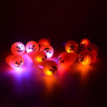 100 Pcs Led Flashing Light Up Glowing Finger Eyes Ring Electronic Christmas Halloween Baby Fun Toys Gifts For Man Women Kid