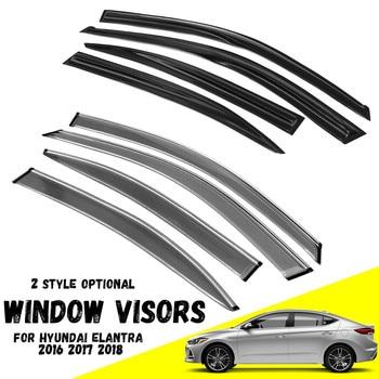 New Car Window Glass Sun Guard Vent Wind Visor Rain Shield Car Auto Accessories for hyundai Elantra 2016 2017 2018 Auto Moldings
