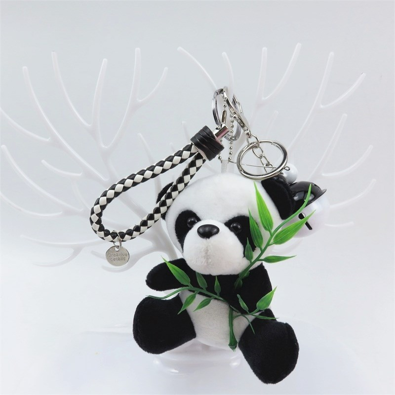 New Small 9cm Panda Keychain Pendant Cute Kawaii Quality Baby Children Plush Toys Hot Sell Kids Toys For Children Keychain Gift