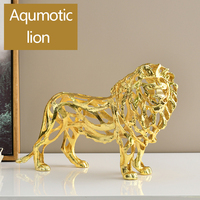 Aqumotic Simulation Metal Animal Tiger Lion Leopard 1pc Zinc Lucky Red Wine Shelf Desk Ornaments Home Decorations