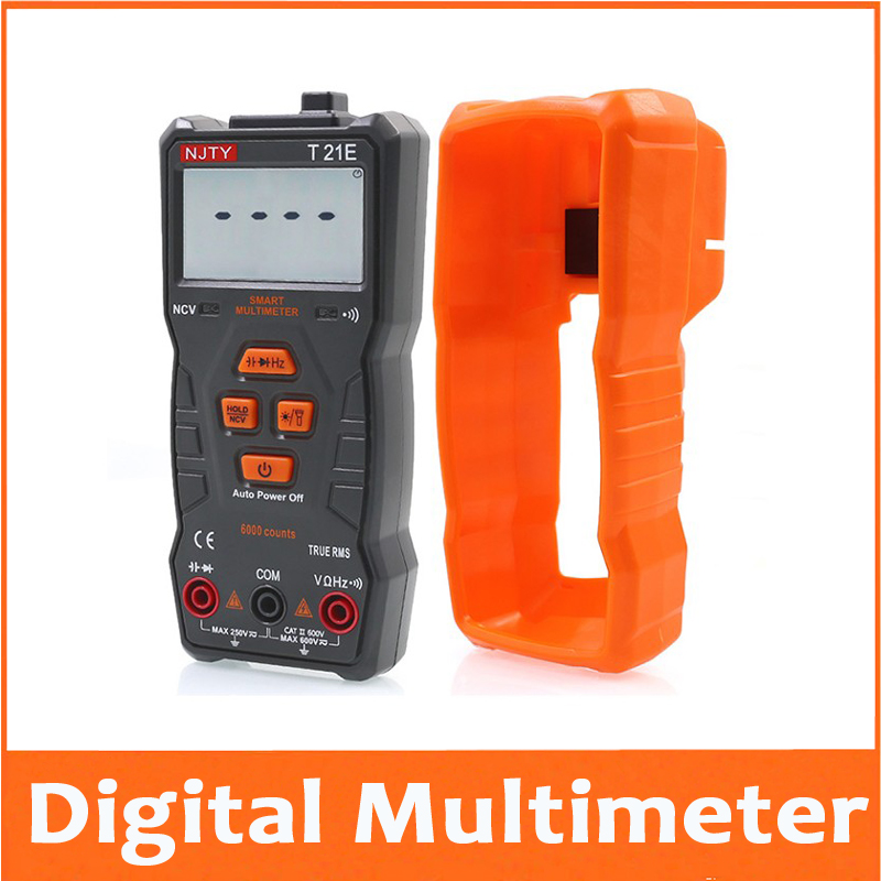 Digital Multimeter Auto Range NCV Ture RMS AC/DC 6000 Counts Two-color Screen Voltage Indicator Light Tester