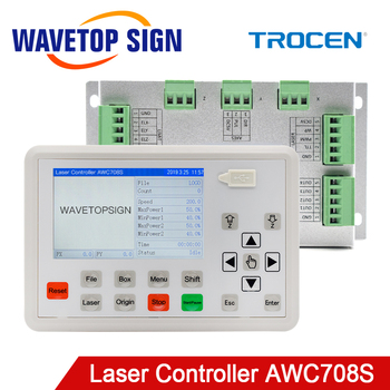 Trocen AWC708S Co2 Laser Controller System for Co2 Laser Engraving Cutting Machine Replace AWC708C Lite ruida Leetro ruida rd rdlc320 a co2 laser dsp controllerr rd320a co2 laser controller use for laser engraving and cutting machine