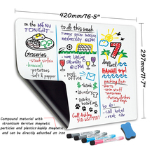 A3 Size Magnetic dry erase soft whiteboard fridge stickers erasable message