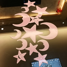 13pcs Fluorescent Plastic Wall Sticker Solid Color Mildewproof Landscaping Anti-Mite Anti-Fouling Moisture-Proof