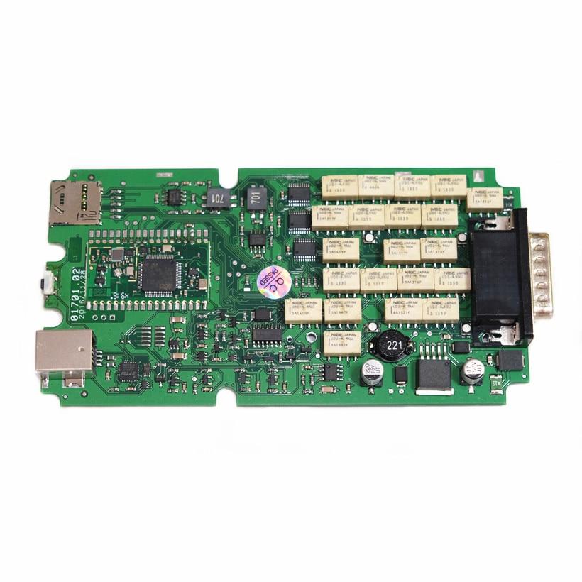 A++ качественный одноплатный сканер TCS OBDIICAT-tcs R3 keygen новейший универсальный 3 в 1 монитор реле bluetooth obd инструмент - Цвет: Green pcb BT