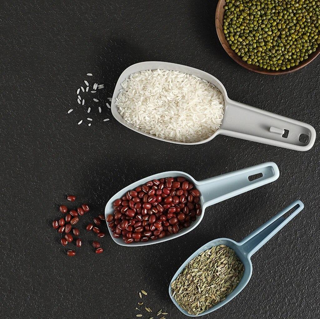 3PCS Plastic Scoop Ice Buffet Candy Kitchen Shovel Nut Pet Food Flour Scoop
