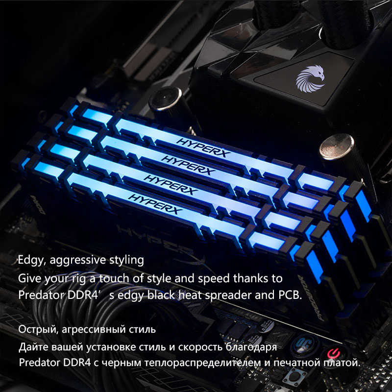 Kingston HyperX Predator RGB <font><b>DDR4</b></font> 8GB 16GB <font><b>3200MHz</b></font> 3600MHz 4000MHz CL16 DIMM XMP <font><b>Memoria</b></font> <font><b>Ram</b></font> <font><b>ddr4</b></font> for Desktop Memory <font><b>Rams</b></font> image