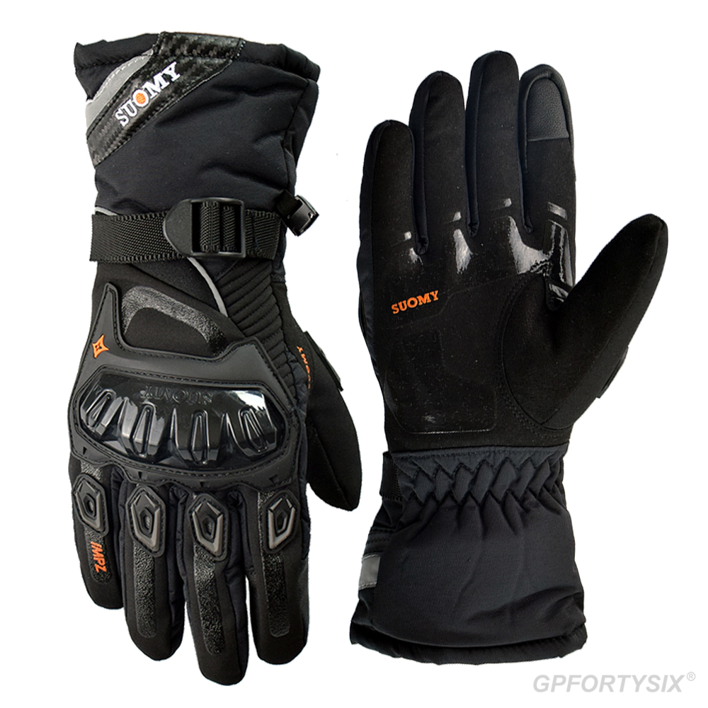 SUOMY теплые мотоциклетные перчатки, мотоциклетные перчатки с сенсорным экраном Gant, 100% водонепроницаемые и ветрозащитные перчатки для верхов...