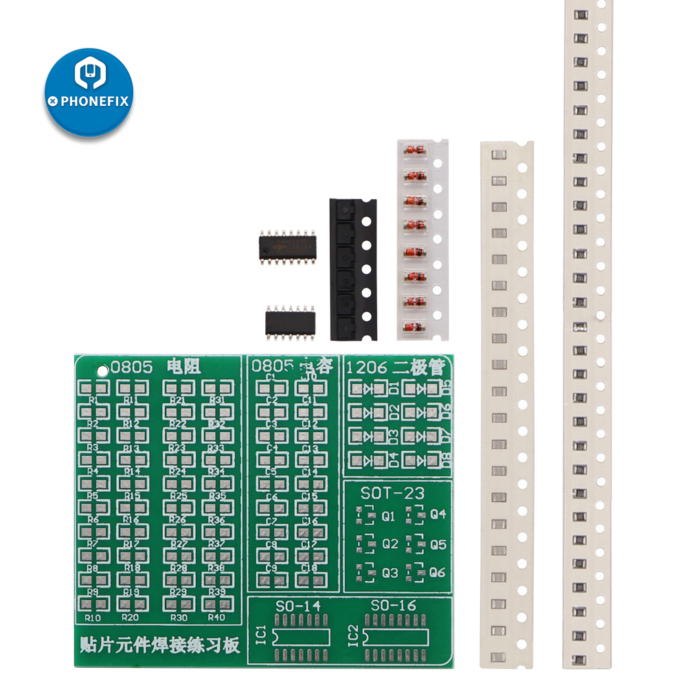 PHONEFIX DIY Circuit Board PCB SMT SMD Soldering Practice Board DIY Kit Fanny Skill Training Electronic Suit