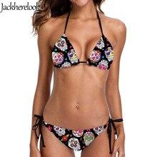 Jackherelook Women Bikinis 2020 Mujer Sugar Skull Swimwear 2