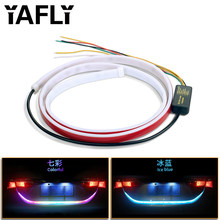 YAFLY Car Additional Stop Light Dynamic Streamer Floating LED Strip 12v Auto Trunk Tail Brake Running Turn Signal Lamp(China)