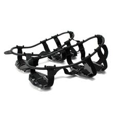 1 Pair 24 Teeth Fishing Ice Mud Snow Shoe Spiked Grips Cleats Crampons Winter Climbing Camping Anti