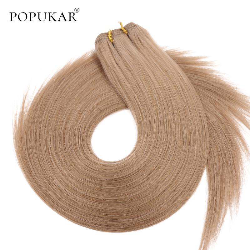 Popukar Full And Thick Remy Hair Weave Bundles Human Russian Hair Extensions Weft 12-26inch Top Grade