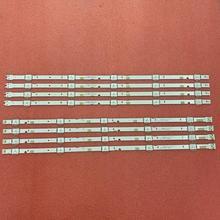 5 ensemble = 40 pièces LED bande de rétro éclairage pour UN49J5200 UN49J5290 UN49J5290AG HG49NJ477 UN50J5200 49 FHD R L 180319 JEDI BN96 46573A 46572A