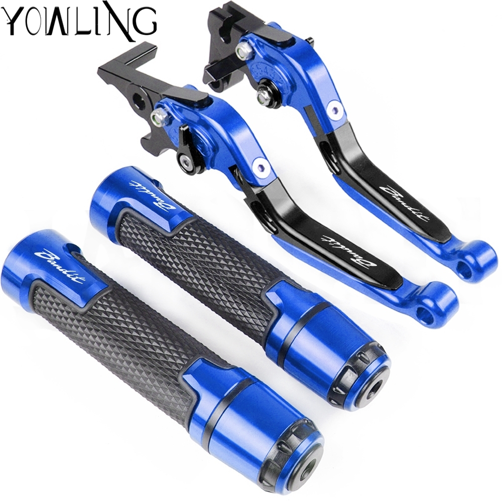Motorcycle Accessories Adjustable Brake Clutch Lever Handlebar Hand Grips ends For SUZUKI <font><b>GSF</b></font> <font><b>650</b></font> BANDIT GSF650 Bandit 2005-2006 image