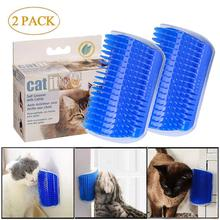 Pet cat dog Self Groomer 2 Pack Grooming Tool Hair Removal Brush Comb for Dogs Cats Wall Corner Massage Toy