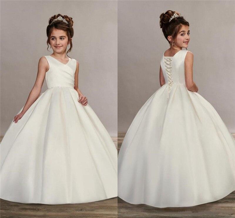 Ivory White Custom Flower S Dresses