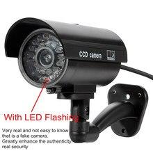 Falsa câmera de energia solar ao ar livre simulação manequim câmera impermeável segurança cctv vigilância bala com luz led piscando