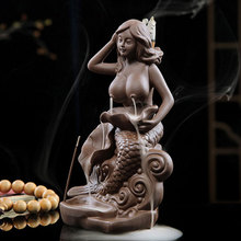 Girl Incense Burner Buddha Ceramic Zen Ganesha Stick Censer Meditation Living Room Durable Home Decor 60ZL021