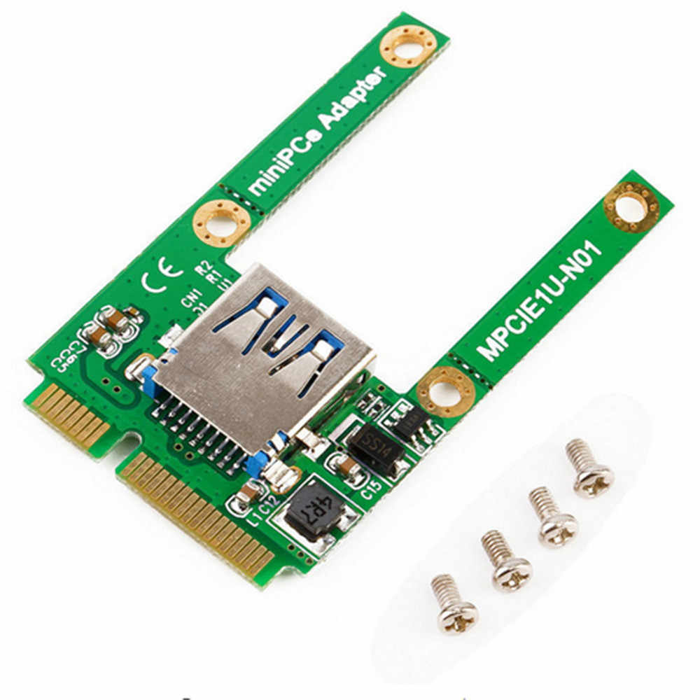 ミニ Pci-E カードスロット拡張 USB 2.0 インタフェースアダプタライザーカードホットな新 PCI-E usb 2.0 カードアダプター