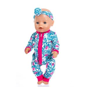 Image 4 - New fashion Jumpsuits Fit For 43cm Zapf Born Baby Doll 17inch Born Babies Doll Clothes