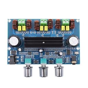 Image 2 - 2*50 Вт + 100 Вт Bluetooth 5,0, двойной усилитель мощности TPA3116D2, сабвуфер, плата 2,1 канала, TPA3116, аудио, стерео, эквалайзер, AUX Amp