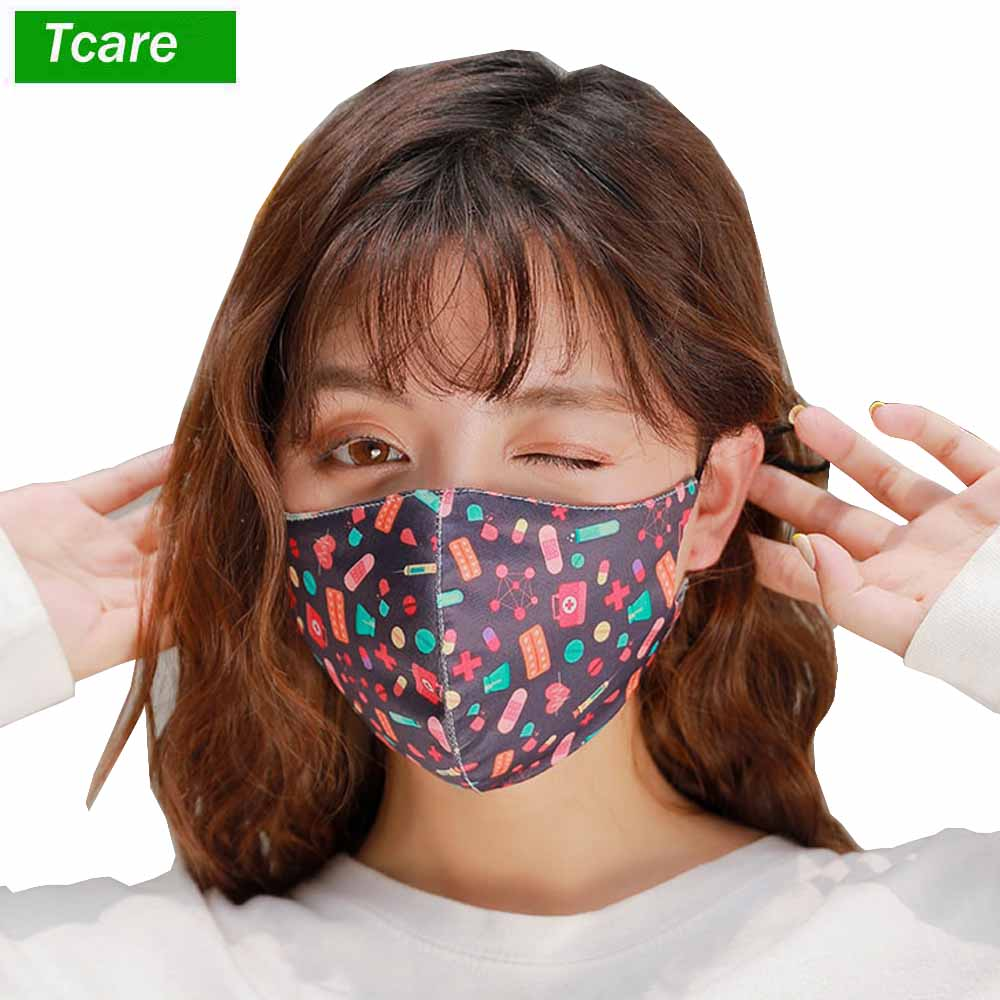 1Pcs 3D Cropped Pollution Mouth Face Cover Mask Anti Air Dust And Smoke Pollution Mask Windproof Washable Mask For Men Women