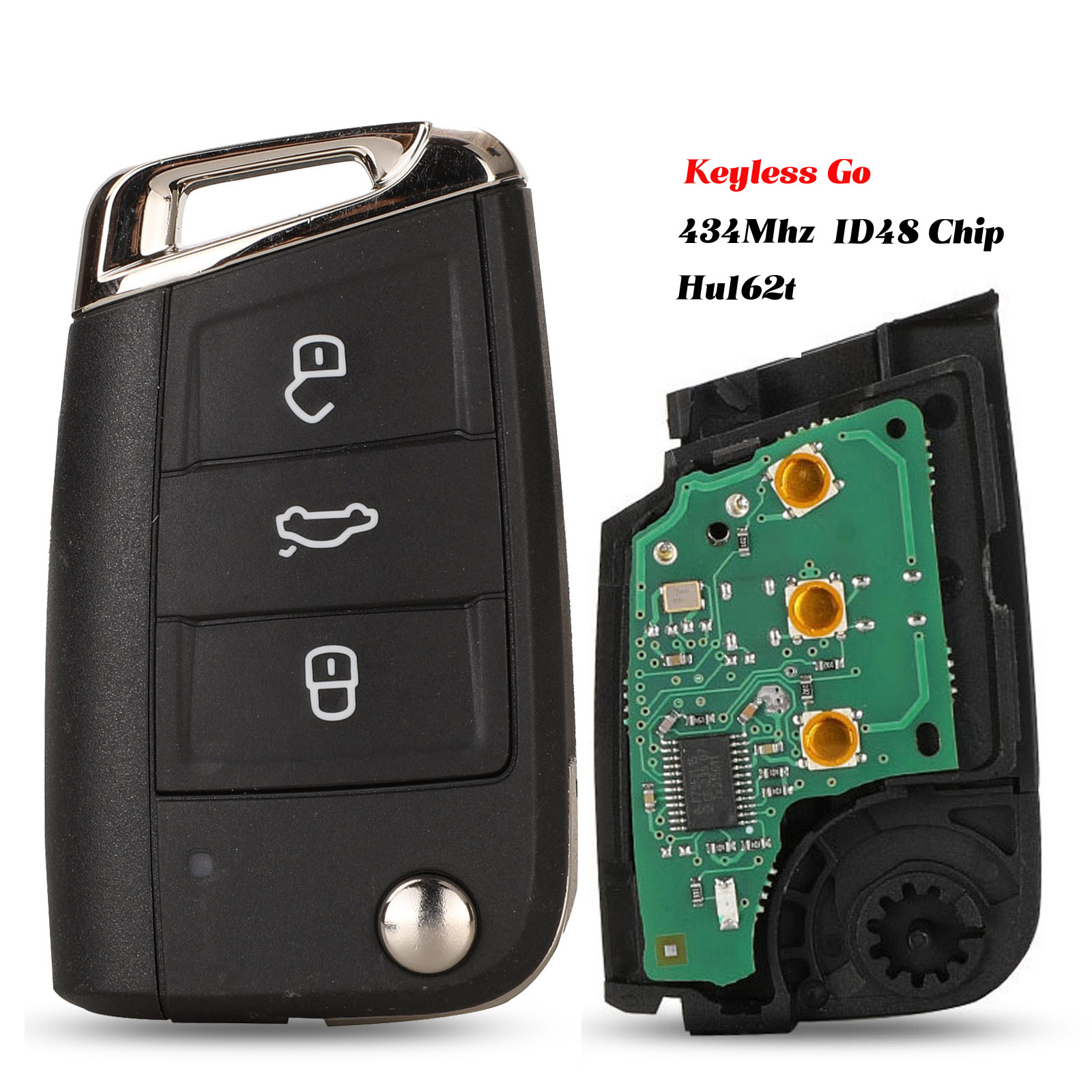jingyuqin Keyless-go/Half Smart Option <font><b>Remote</b></font> <font><b>Key</b></font> 434MHz MQB ID48 For VW Seat <font><b>Golf</b></font> <font><b>7</b></font> MK7 Touran Polo Tiguan 5G6959752AB BB image
