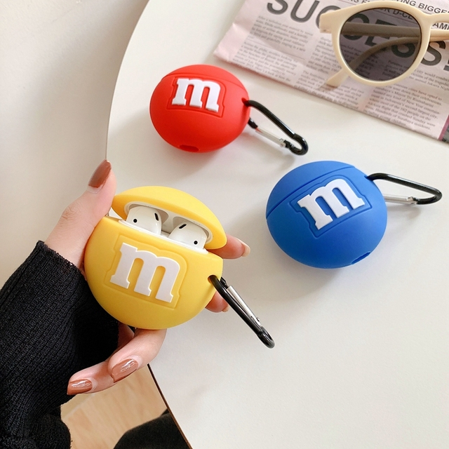 Round 3D silicon colored chocolate shaped Airpods Case Cover