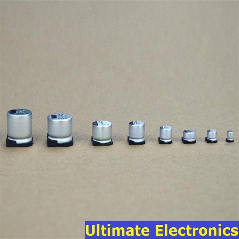 10 шт./лот SMD электролитический конденсатор 2,5 V 4V 6,3 V 10V 16V 25V 50V 100V 1uF 2,2 мкФ 4,7 мкФ 10 мкФ 33 мкФ 47 мкФ 100 мкФ 220 мкФ 470 мкФ 1000 мкФ|Конденсаторы|   | АлиЭкспресс