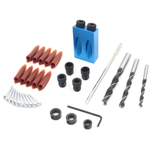 35PCS Dual Pocket Hole Jig Kit 6/8/10mm 15 Angle Adapter for Woodworking Guide  Drilling Holes Guide Dowel Jig single Wood Tools berlitz malaysia pocket guide
